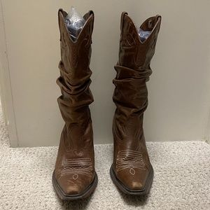 Steve Madden Leather Brown Cowboy boots Size 6